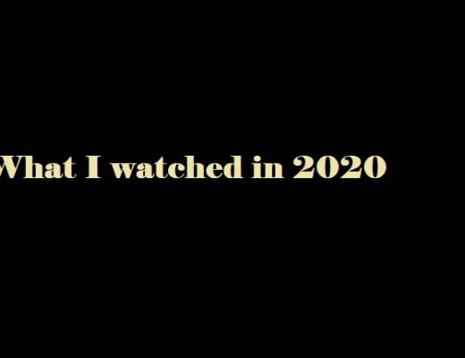What I watched in 2020