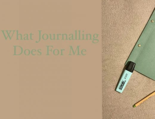 What Journaling Does For Me