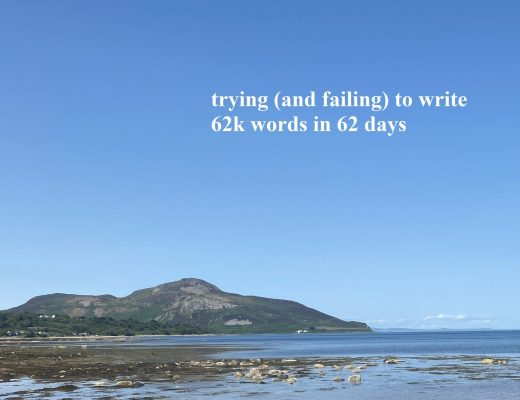 I tried (and failed) to write 62k words in 62 days